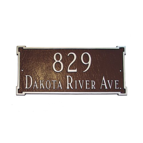Montague Metal Products New Yorker 2 Line Lawn Address Sign Reviews Wayfair