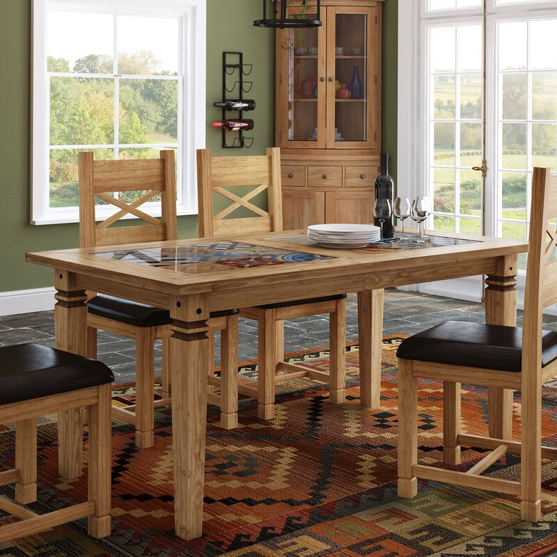 Boundary Ridge Tile Top Dining Table