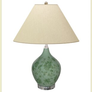 Smoky Olive Leaves 26 Table Lamp