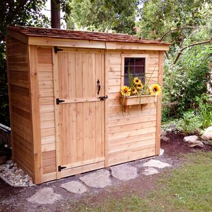 SpaceSaver 8.5 Ft. W X 4.5 Ft. D Solid Wood Lean-To Storage Shed By Outdoor Living Today