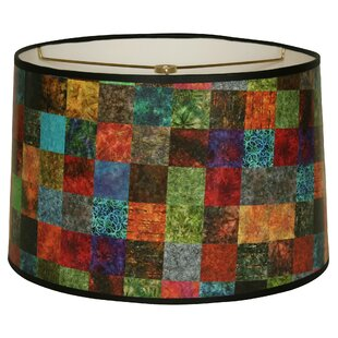 Square Patchwork Designer Hard Back 10 Paper Drum Lamp Shade