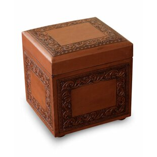 Scettrini Leather Storage Ottoman by Bloomsbury Market