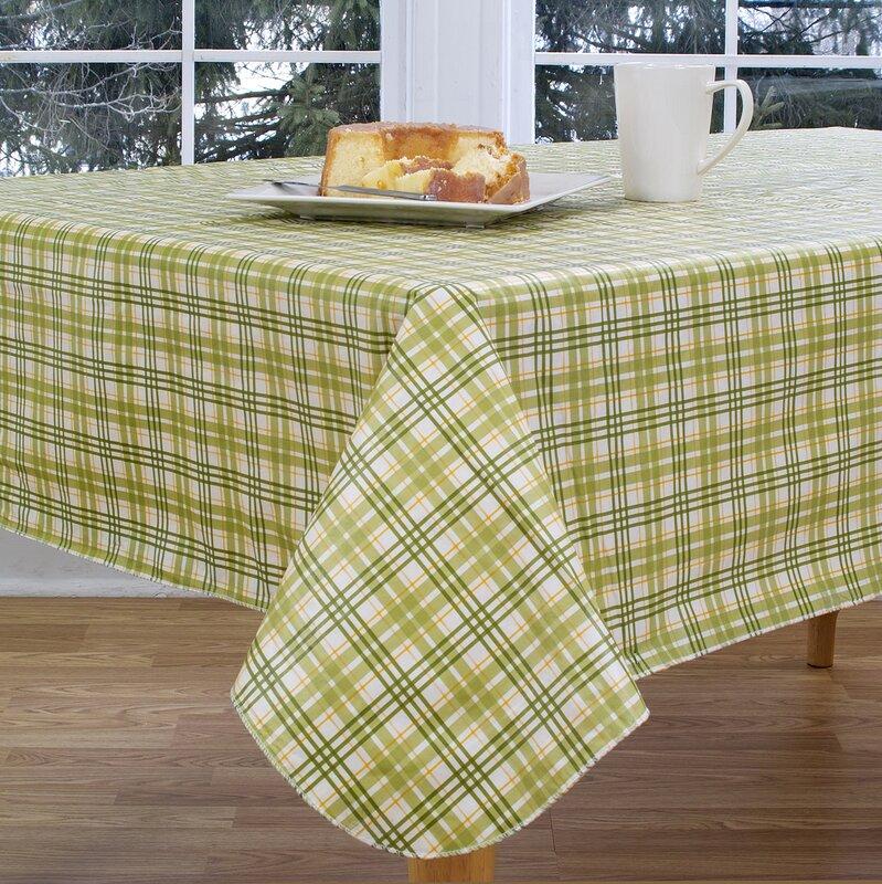 Homestead Plaid Vinyl Tablecloth