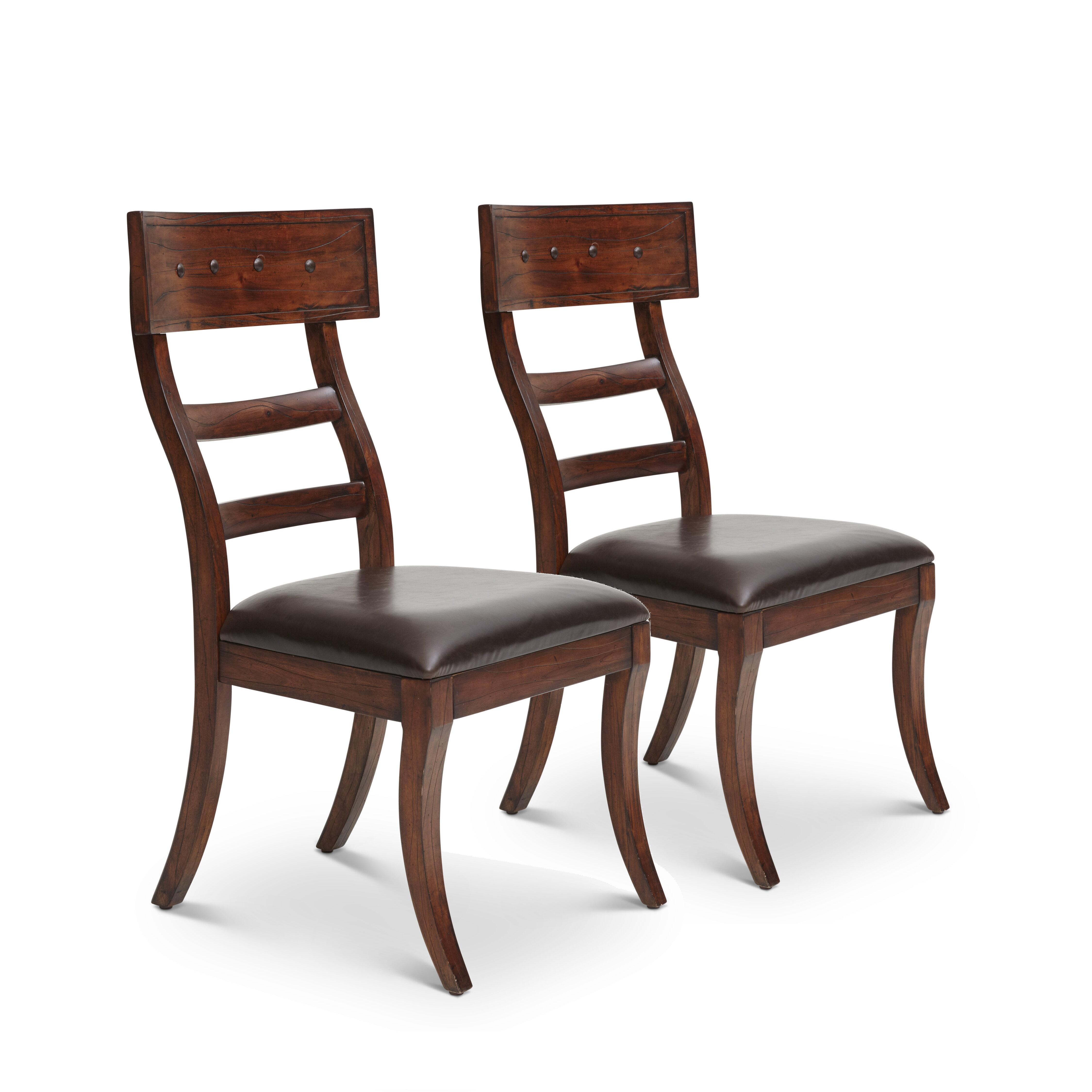 Millwood Pines Rinker Ladder Back Side Chair In Dark Brown Wayfair