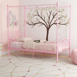 Brandon Twin Canopy Bed & Full Size Kids Canopy Bed | Wayfair