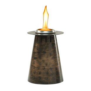 TIKI Brand Clean Burn Fire Pillar Metal Tabletop Torch (Set of 3)