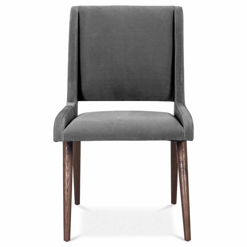 ModShop Velvet Upholstered Side Chair