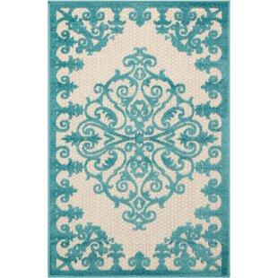 Farley Blue/Cream Indoor/Outdoor Area Rug