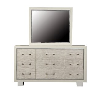 Newquay 9 Drawer Dresser with Mirror