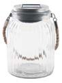 Highland Dunes Solar LED Glass Lantern