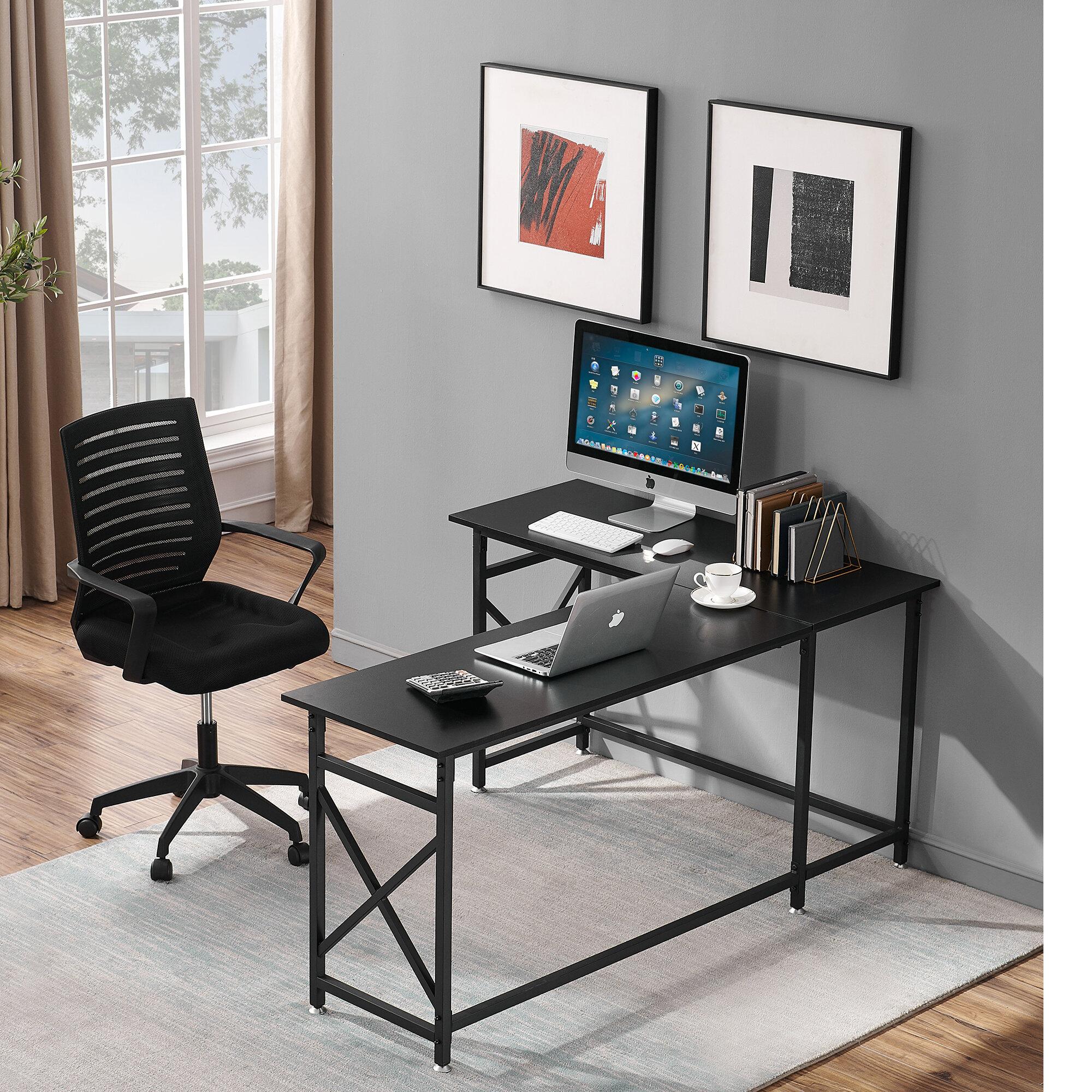 Inbox Zero Reversible L Shape Gaming Desk And Chair Set