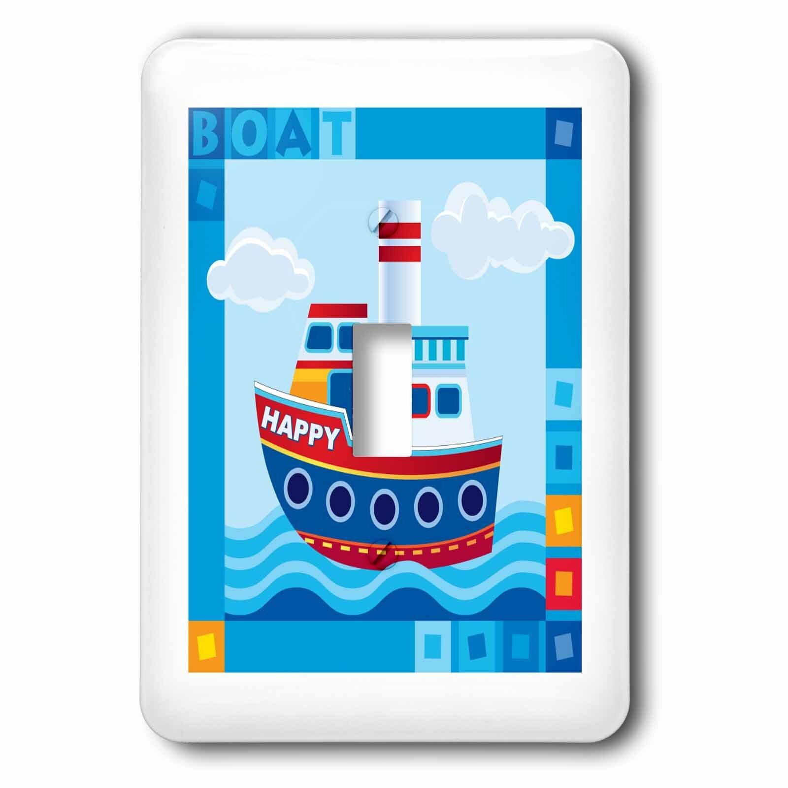 3drose Cute Kid Boat 1 Gang Toggle Light Switch Wall Plate Wayfair