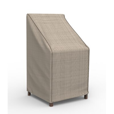 Freeport Park Aaden Stack Patio Chair Barstool Cover Color: Tan Tweed, Material: Polypropylene