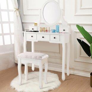 Charlton Home Lowestoft Vanity Set with Mirror
