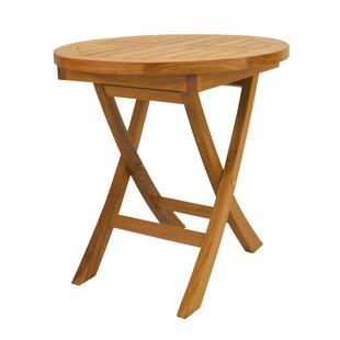 Rosecliff Heights Farnam Folding Teak Side Table