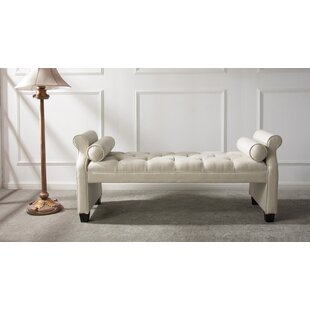 Everly Quinn Belby Roll Arm Upholstered Bench