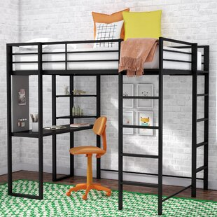 Remarkable Aime Twin Loft Bed With Bookcase Gmtry Best Dining Table And Chair Ideas Images Gmtryco