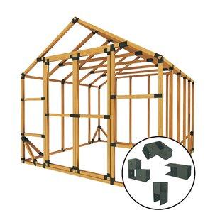10 Ft. W X 10 Ft. D Storage Shed Kit By E-Z Frames