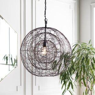 Pless 1-Light Globe Pendant by Williston Forge