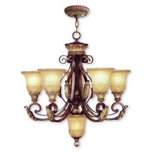 Astoria Grand Scottdale 6-Light Shaded Chandelier