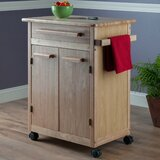 Javier Kitchen Cart with Wooden Top by Red Barrel Studio®