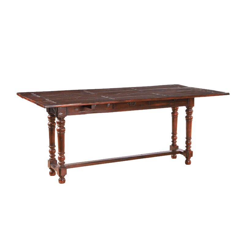 World Menagerie Anciaux Acacia Solid Wood Dining Table Reviews Wayfair