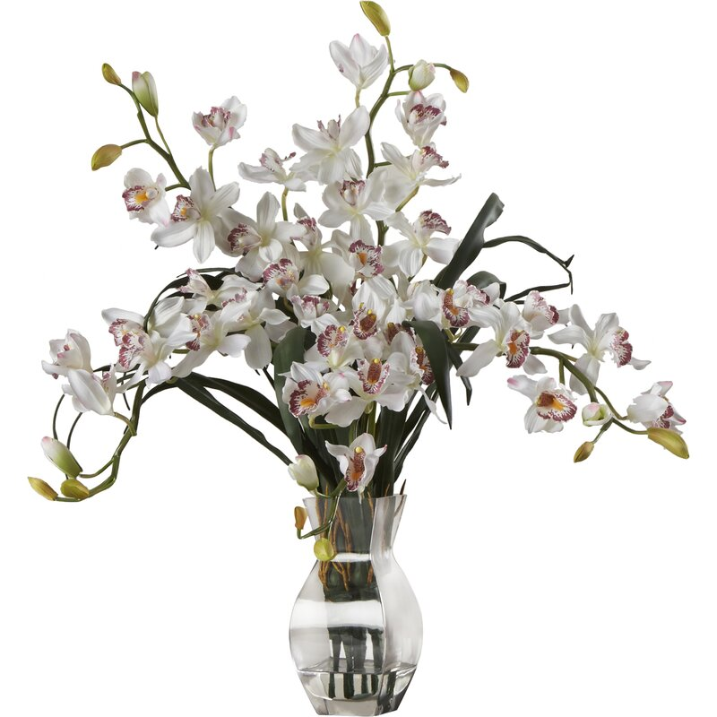 World menagerie orchid silk flower arrangement in white reviews orchid silk flower arrangement in white mightylinksfo