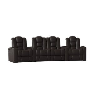 Contemporary Home Theater Row Curved Seating (Row of 4)