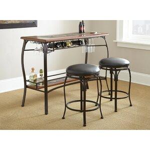 Dakota 3 Piece Pub Table Set by Steve Silver Furniture