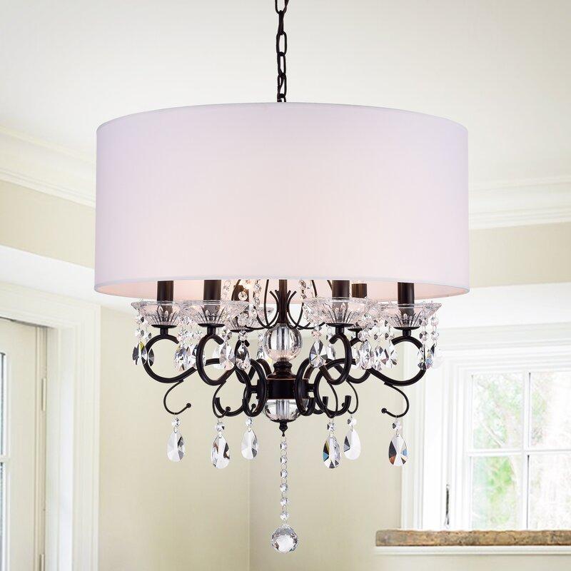 House of Hampton Lacombe 6-Light Unique / Statement Drum Chandelier