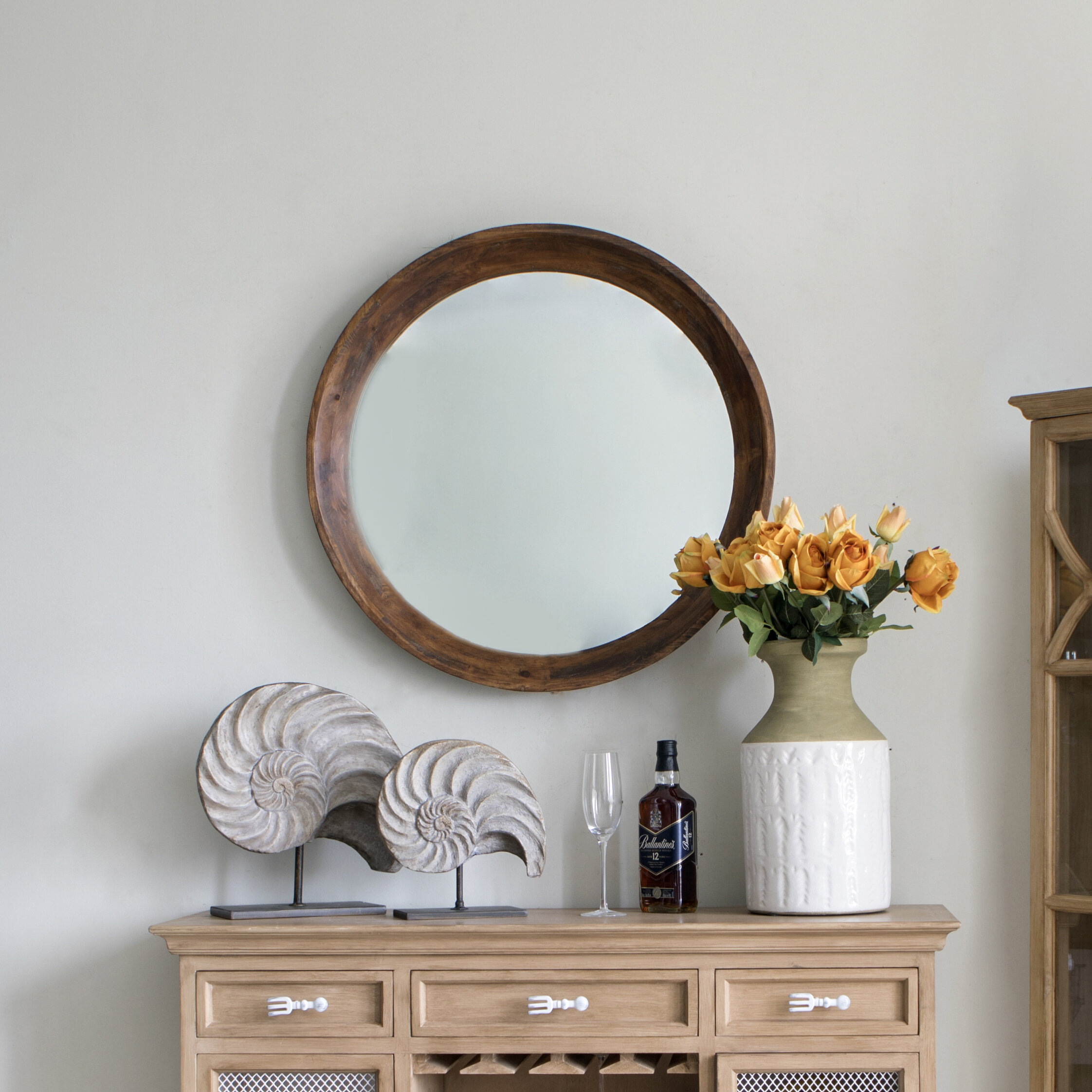 Foundry Select Puig Wood Frame Rustic Accent Mirror Wayfair