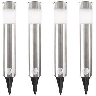 Column 1 Light LED Pathway Light (Set of 4) (Set of 4) by Pure Garden