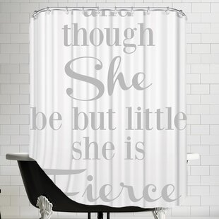 She Is Fierce V2 Single Shower Curtain