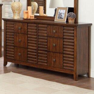 Hokku Designs Tora 6 Drawer Double Dresser