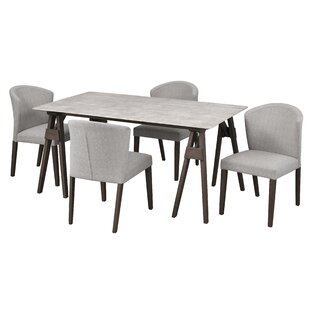 Macclesfield 5 Piece Solid Wood Dining Set
