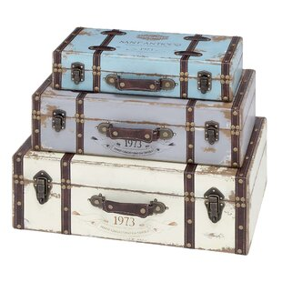 Cole & Grey Marion 3 Piece Trunk Set