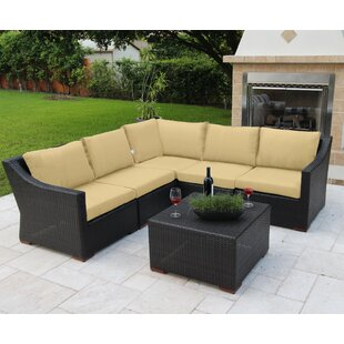 Bellini Home and Garden Marcelo 6 Piece Sunbrella Sectional Set with Cushions