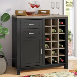 Callowhill Bar Cabinet with Wine Storage by Mercury Row