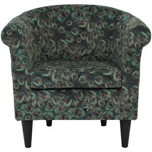 Ronda Animal Print Barrel Chair by Bloomsbury Market