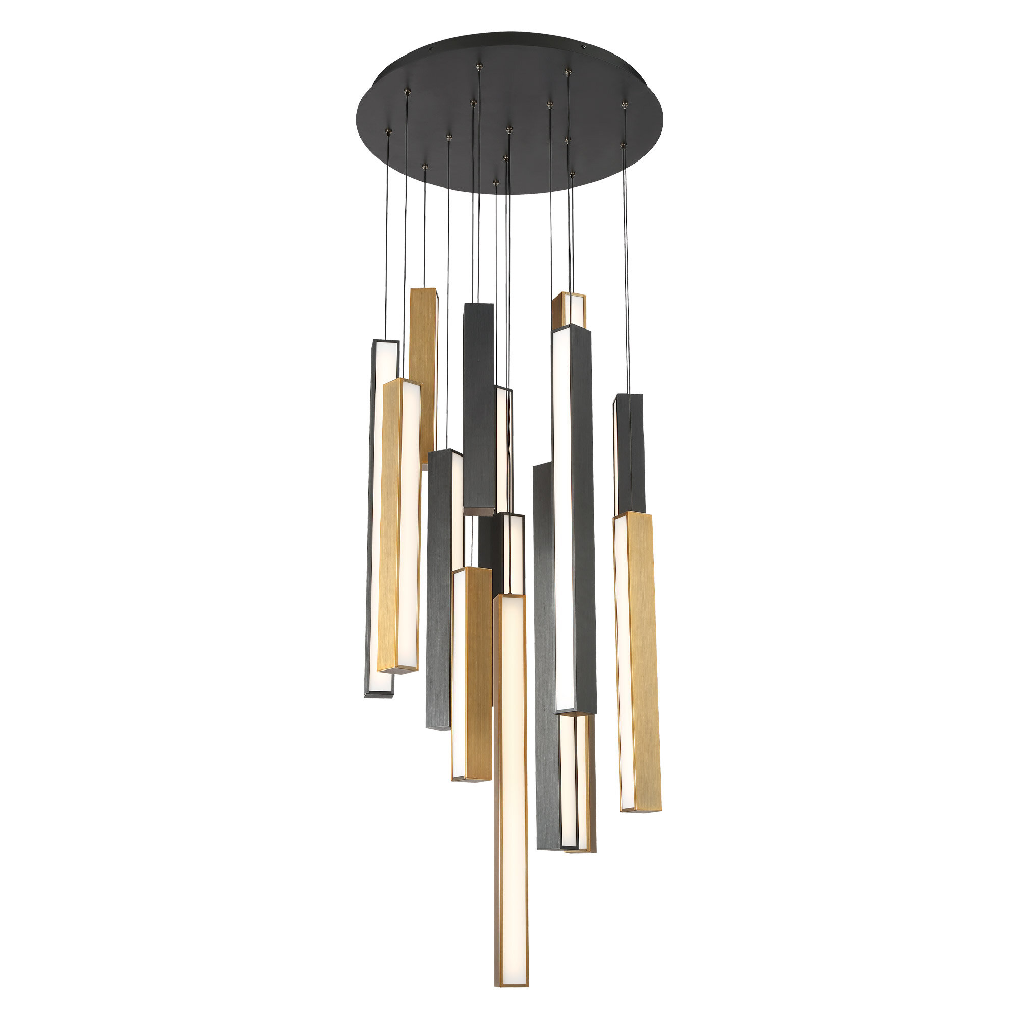 Modern Forms Chaos 15 Light Cluster Square Led Pendant Wayfair