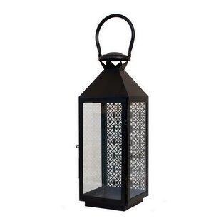 Pierced Metal Lantern by Bungalow Rose