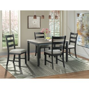 Mavis 5 Piece Solid Wood Dining Set by Alcott Hill Cheap
