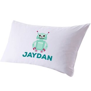 Personalized Friendly Robot Pillow Case