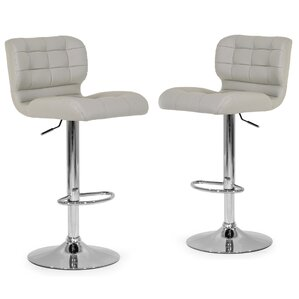 Adjustable Height Swivel Swivel Bar Stool (Set of 2) by Glamour Home Decor Sale