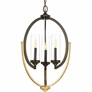 Brayden Studio Zaleski 3-Light Geometric Chandelier