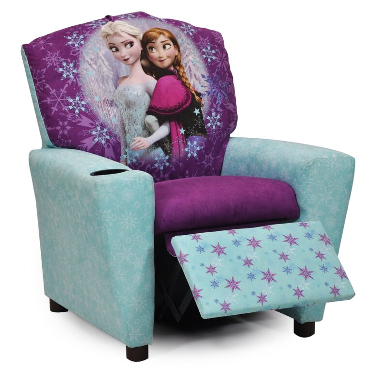 Disneyu0027s  Frozen  Kids Recliner Chair with Cup Holder  sc 1 st  Wayfair : childrens recliners with cup holder - islam-shia.org