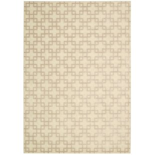 Hollywood Shimmer Times Square Tan Area Rug byKathy Ireland Home Gallery