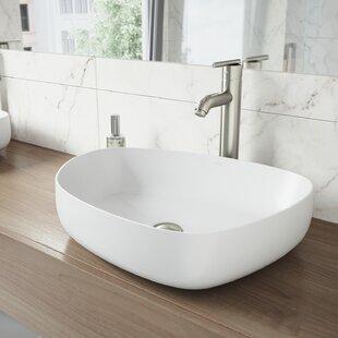 Buy luxury VIGO Matte Stone Specialty Vessel Bathroom Sink with Faucet By VIGO