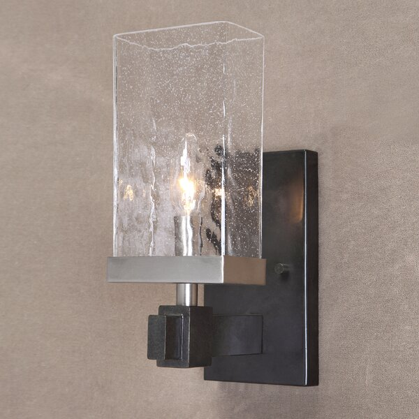 Alonso 1 Light Textured Black Armed Sconce Birch Lane