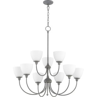 Willa Arlo Interiors Dian 9-Light Shaded Chandelier